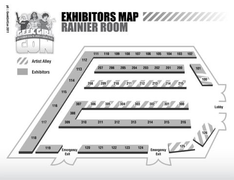 Exhibitors Map Rainer Room GeekGirlCon 2011