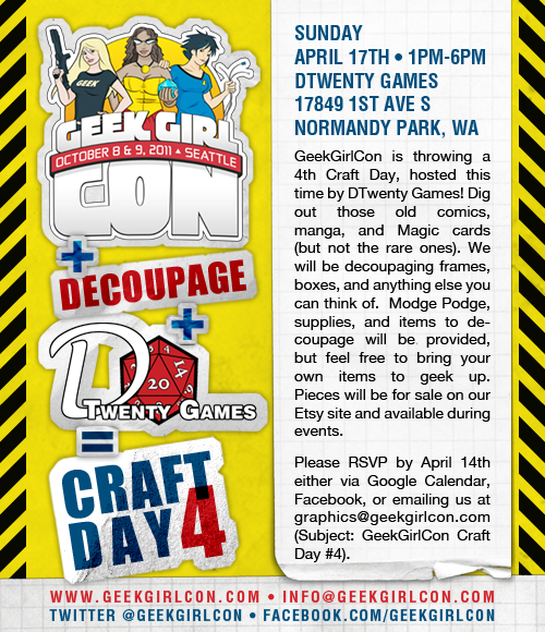 Come to get your geeky craft on!