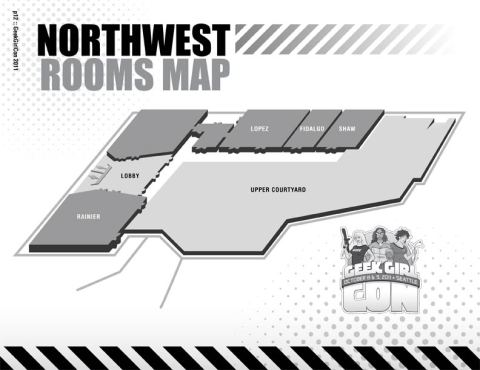 Northwest Rooms Map for GeekGirlCon 2011