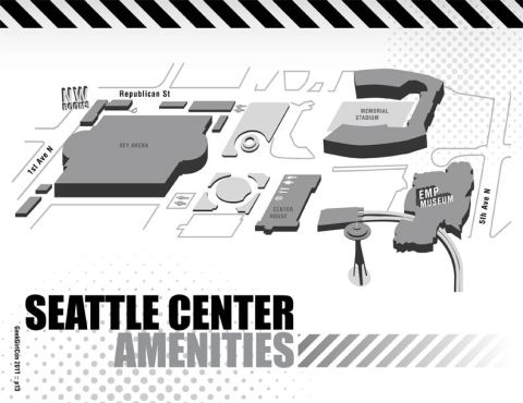 Seattle Center Map for GeekGirlCon 2011
