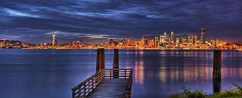 Seattle Skyline by Andrew E. Larsen