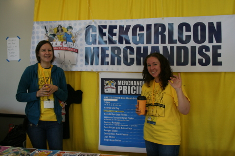 GeekGirlCon 2011's Merch Table
