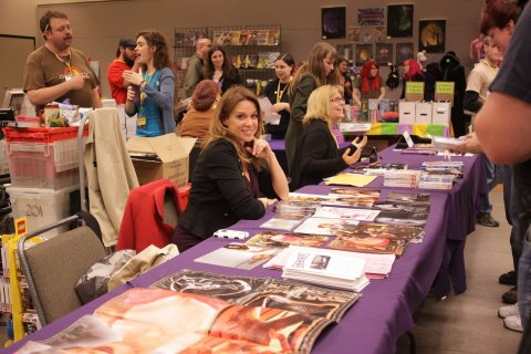 Chase Masterson at GeekGirlCon 2011. Photo by Amir Rosenblatt.