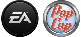 EA and Pop Cap Logos