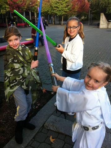 Jedi girls photo from Carrie Goldman Segall