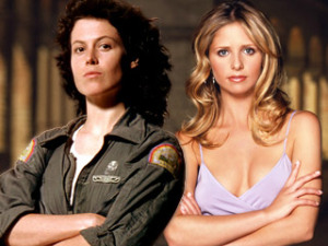 Ellen Ripley and Buffy (photo from EW.com)