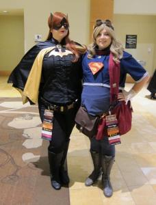 Batgirl and Supergirl lent a hand to rid the con of evil…