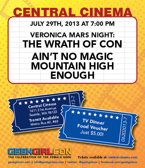 Central Cinema - Veronica Mars Event July 27, 2013