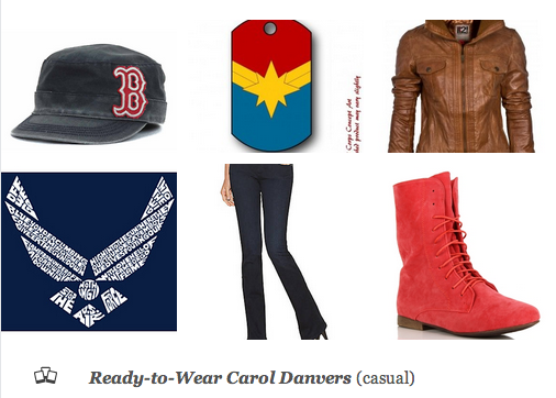 Outfit inspired by Carol Danvers