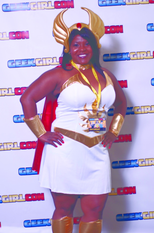 A cosplaying attendee goes all out at GeekGirlCon '12.