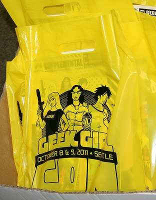 GeekGirlCon swag bag