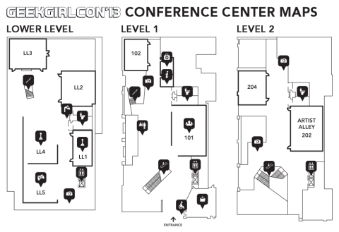 Lower Level/Level 2 Map GGC 2013