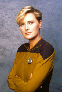 As Lt. Tasha Yar; image courtesy of Denise Crosby