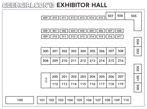 Exhibitor Hall map for GGC 2013