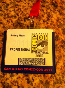 The Professional title on my badge for ECCC created a sense of reality in a fantasy environment.