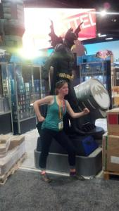 Setting up the Image Comics booth at SDCC 2011, I took a break with the bulked-up Batman.