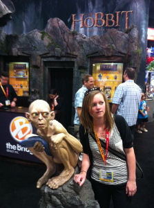 Geeking out with Gollum.