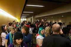 Crowds at GeekGirlCon '14. Photo by Tyler Pruitt and used under Creative Commons license.