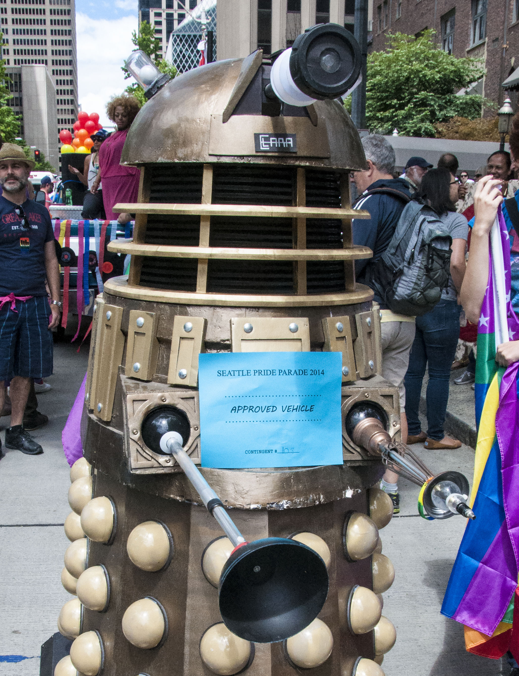 Pride Seattle 2014 GeekGirlCon Dalek