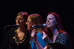 The Double Clicks and Marian Call performing together at GeekGirlCONcert '13