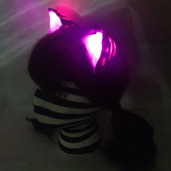 glowing pink ears